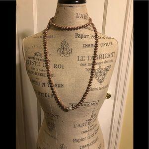 Faux Pear Long Necklace